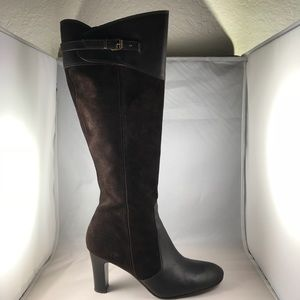J.Crew Brown Leather equestrian Knee High Boots